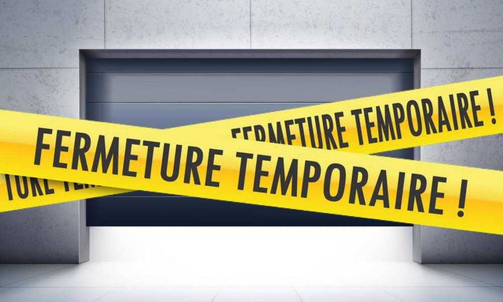 Cessation temporaire activité entreprises