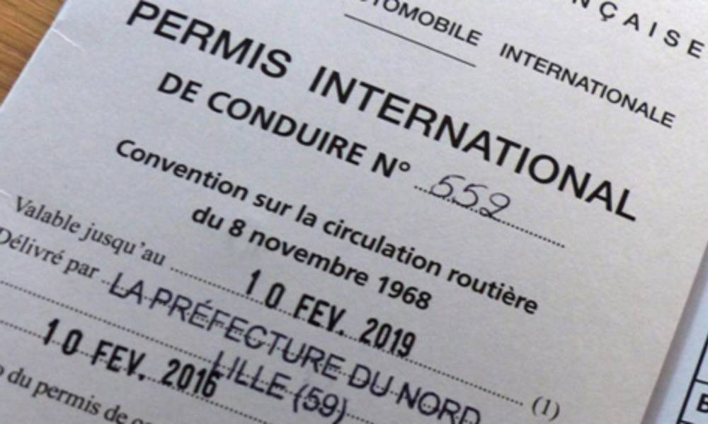 Permis de conduire international Maroc